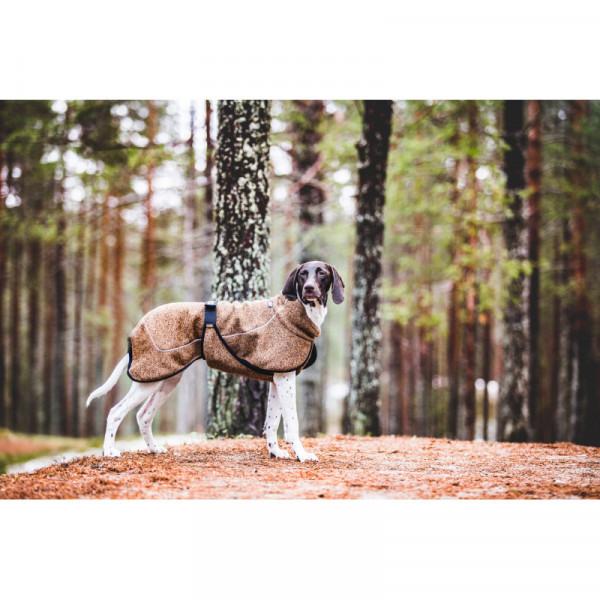Rukka Pets Comfy Technical Knit Fleece jas, bruin mix
