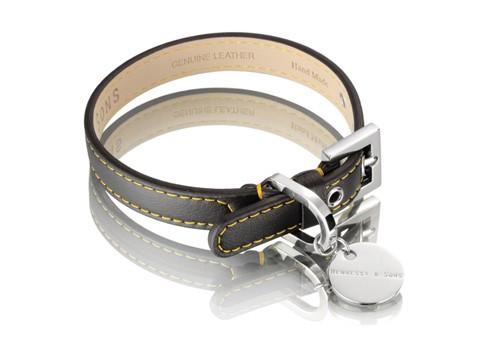 Hennessy & Sons Sailor halsband, zwart/ geel