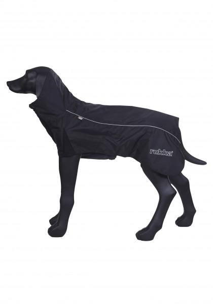 Rukka Pets Wave honden regenjas, zwart