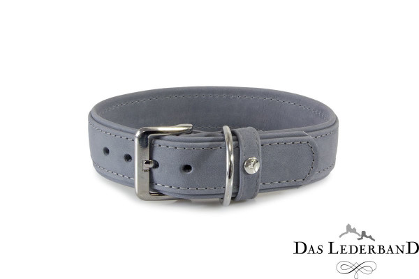Das Lederband halsband Boston, Granite