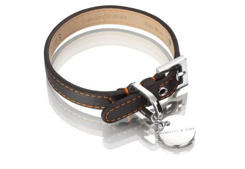 Henessy & Sons Sailor halsband, zwart/ oranje