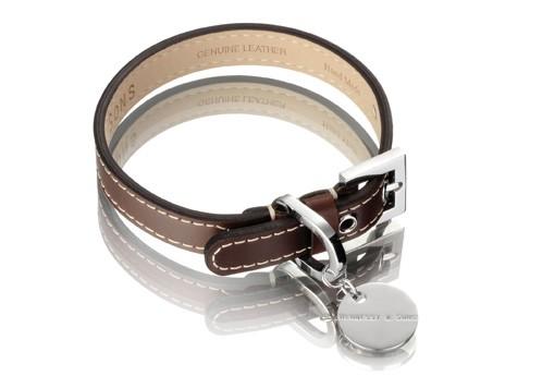 Henessy & Sons Royal halsband, chocolate