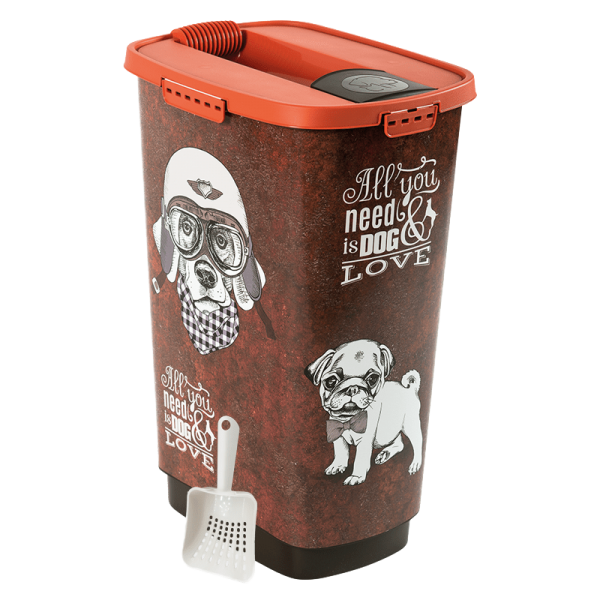 Rotho MyPet Set Cody voercontainer 50l Vintage Dog