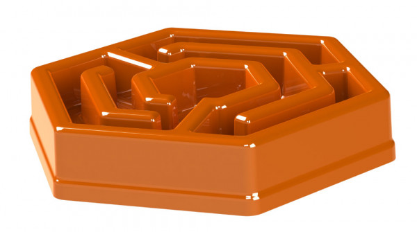 Aikiou Hexa Bowl anti-schrok bak, oranje