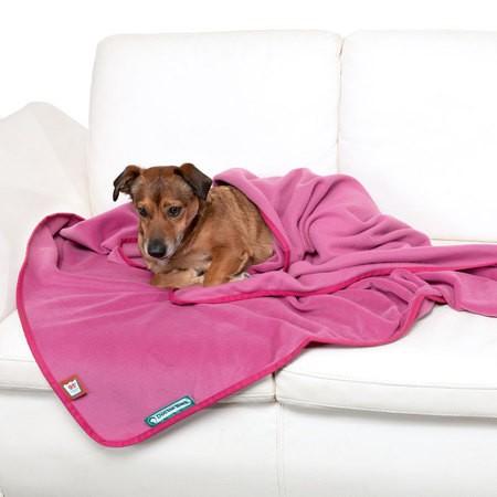 Doctor Bark zachte fleece deken Hot Pink