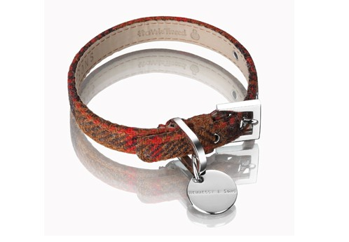 Henessy & Sons Harris Tweed halsband, Rust
