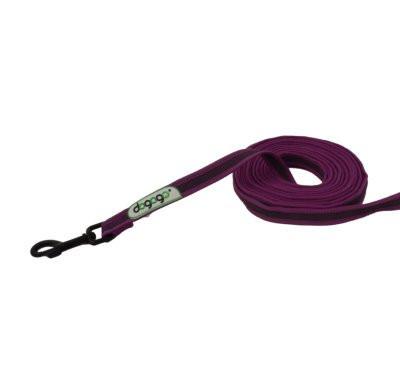 Dogogo antislip riem met handvat 14mm breedte, paars