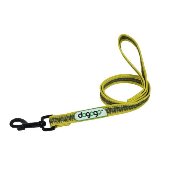 Dogogo antislip riem met handvat 14mm breedte, geel
