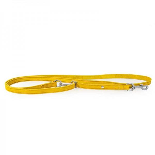 Das Lederband Traploos Verstelbare Looplijn Weinheim geel