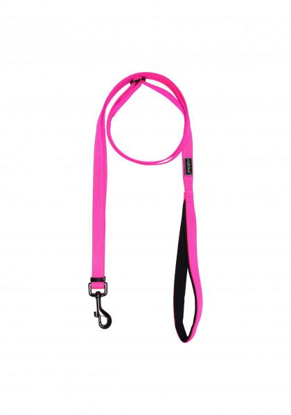 Rukka Pets Bliss neon hondenriem, neon roze