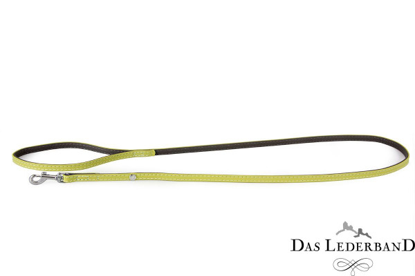 Das Lederband riem Amsterdam, Lime/Lava