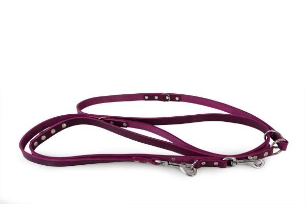 Das Lederband verst. looplijn Weinheim Paars 300cm