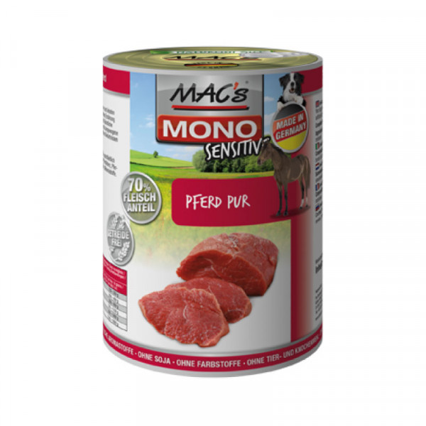 MAC's Dog Mono Sensitive Blikmenu Paard Puur