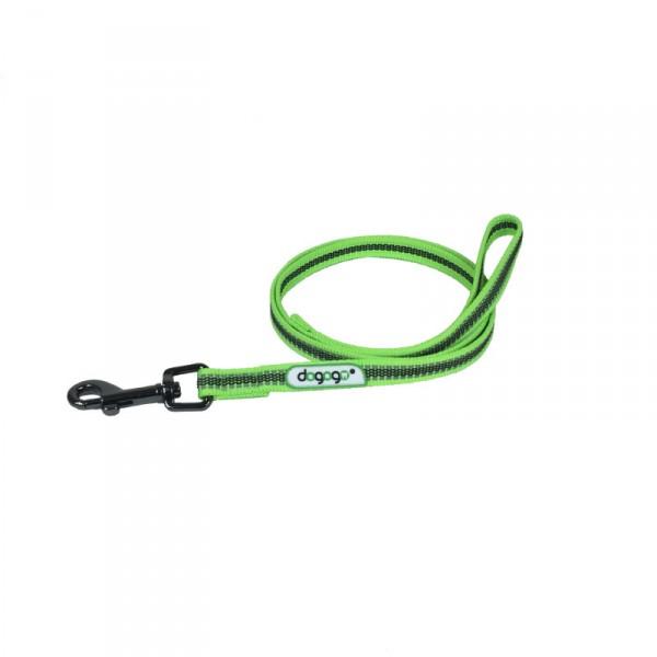 Dogogo antislip riem met handvat 14mm breedte, groen