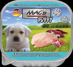 MAC's Dog Kuipjes Puppy Gevogelte, Hart, Lever 11 x 150g
