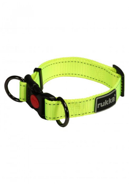 Rukka Pets Bliss Neon Halsband, Neon Geel