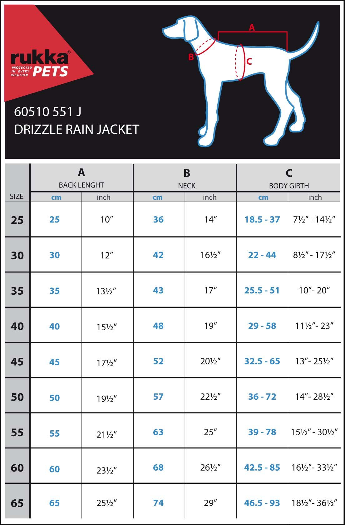DRIZZLE-RAIN-JACKET-SIZE-CHART