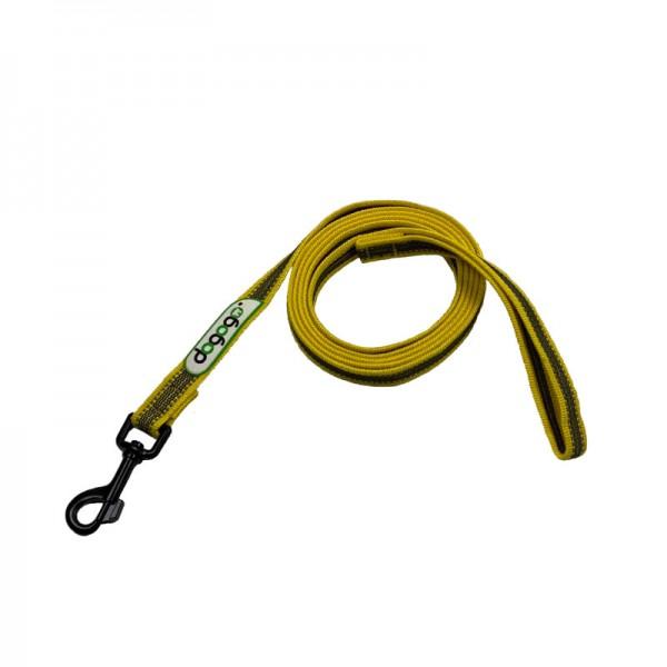 Dogogo antislip riem met handvat 20mm breedte, geel