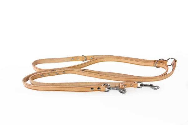 Das Lederband verst. looplijn Weinheim naturel 300cm