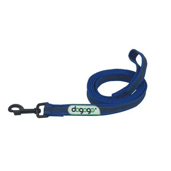 Dogogo antislip riem met handvat 14mm breedte, blauw