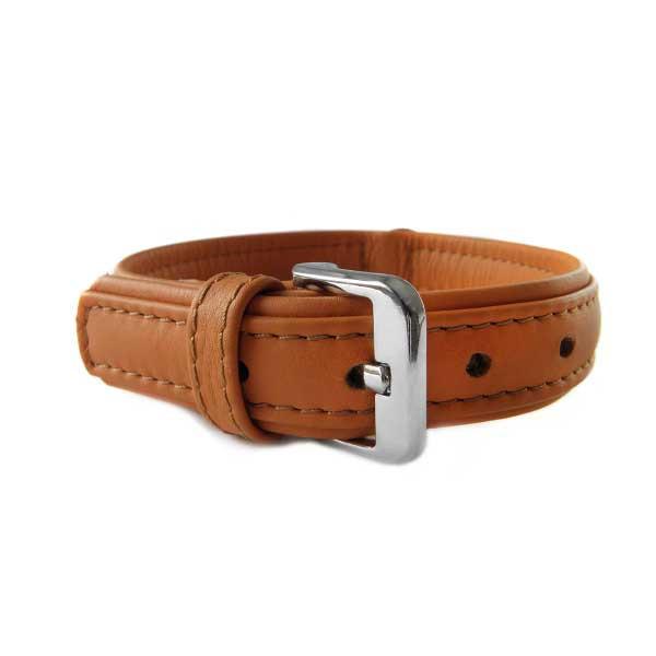 Das Lederband Halsband Denver Cognac / Cognac
