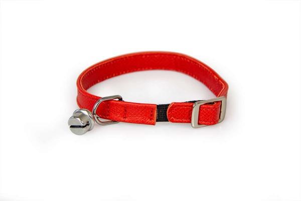 Das Lederband kattenhalsband met elastiek Carnelian