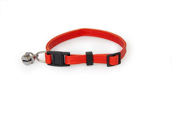 Das Lederband kattenhalsband met clicksluiting Carnelian