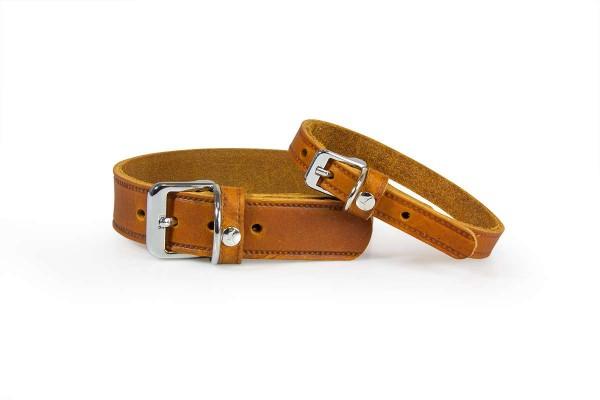 Das Lederband Halsband Weinheim maroon