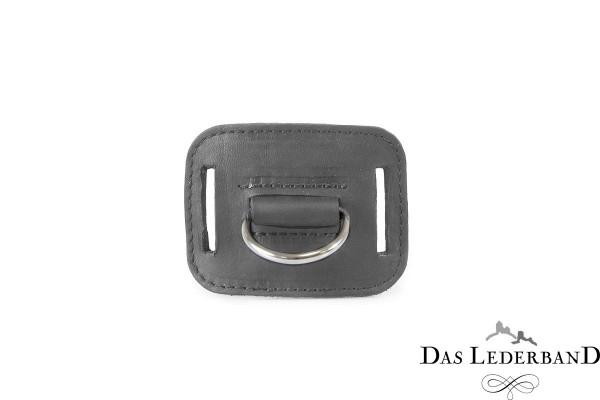 Das Lederband D-ring voor jachtriem Graz, Zilver