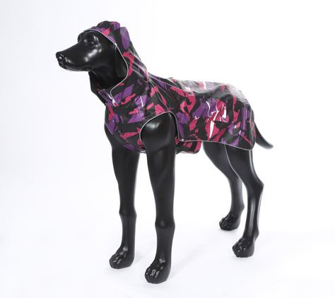 Rukka Pets Stream regenjas, paars/roze
