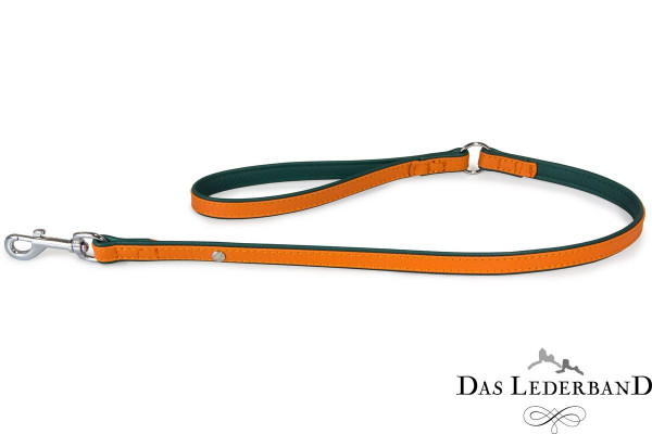 Das Lederband riem Firenze, Orange / Forest