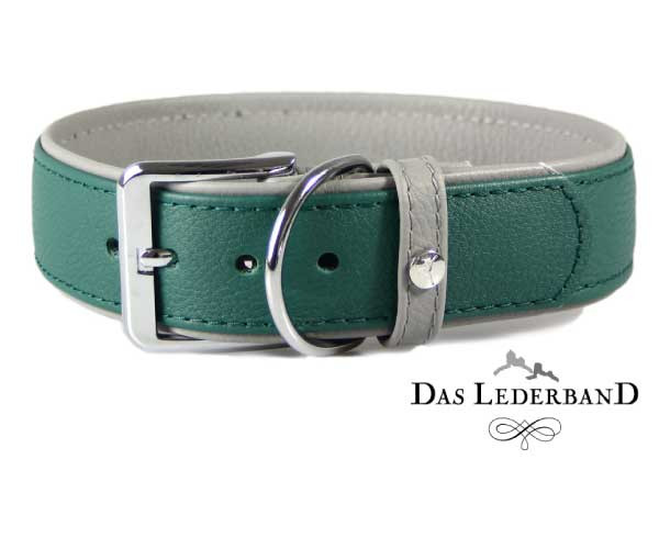 Das Lederband Halsband New York, Forest/ Stone