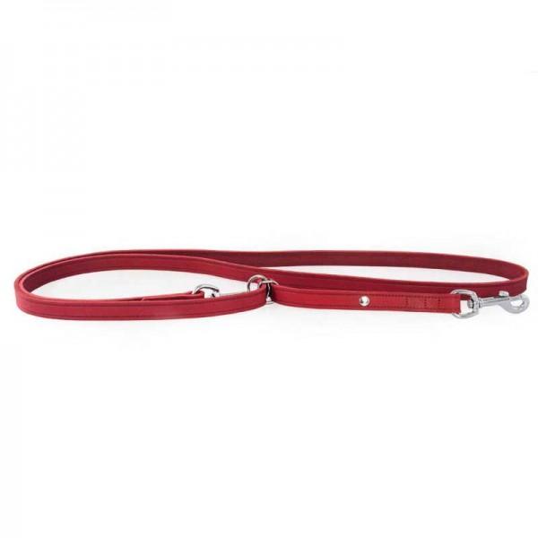 Das Lederband Traploos Verstelbare Looplijn Weinheim rood