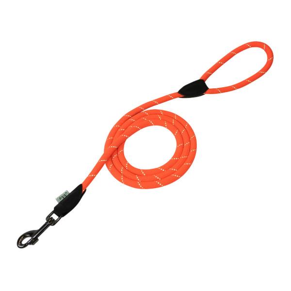 Dogogo touwlijn met handvat, oranje