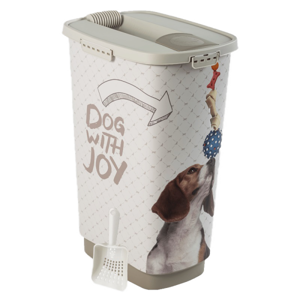 Rotho MyPet Set Cody voercontainer 25 l Vintage Dog