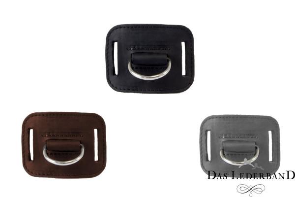 Das Lederband D-ring voor jachtriem Graz, Zwart