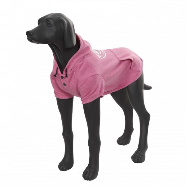 Rukka Pets Hoody College honden sweatshirt, roze