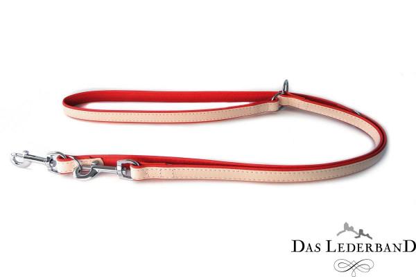 Das Lederband riem Firenze, Rosy / Rubyred