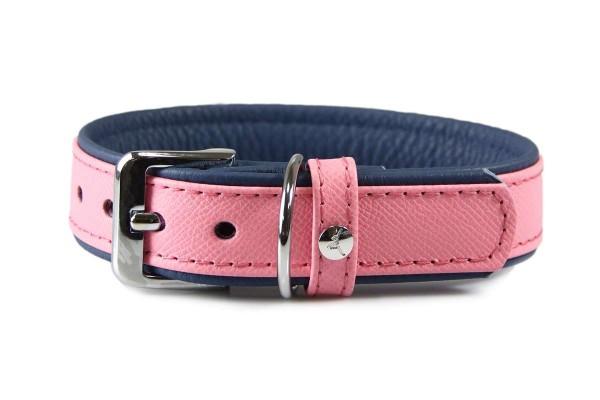 Das Lederband halsband Firenze Candy / Saphire