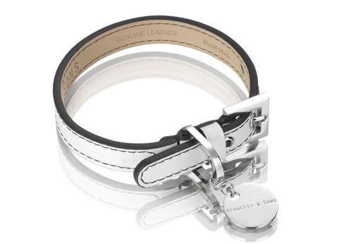 Henessy & Sons Polo halsband, wit/ zwart