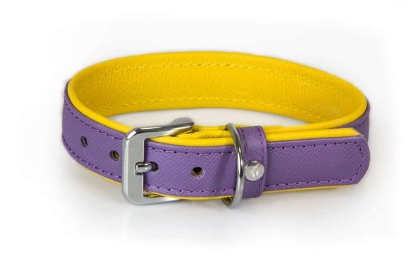 Das Lederband halsband Firenze Lilac / Sunshine