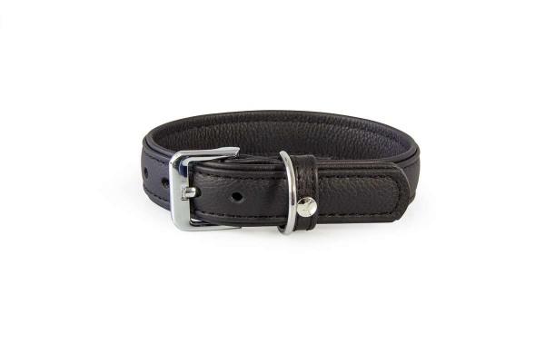 Das Lederband Halsband Denver, Zwart / Zwart