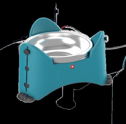 Rotho MyPets Sammy verstelbare voerbak aqua 0,85L