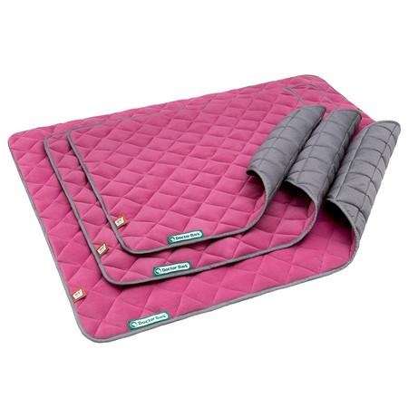 Doctor Bark fleece dubbelzijdige deken Hot Pink - Lichtgrijs