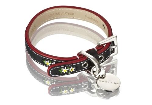 Henessy & Sons Edelweiss halsband, zwart