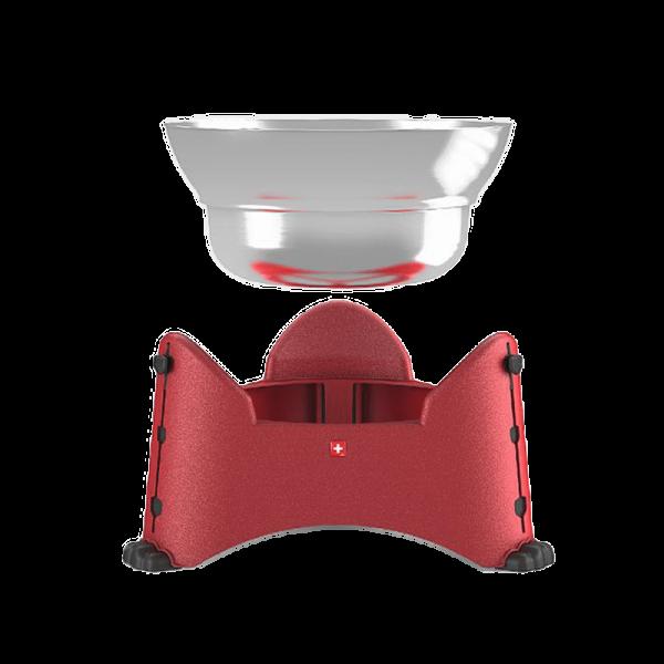 Rotho MyPets Sammy verstelbare voerbak rood 2,5 l